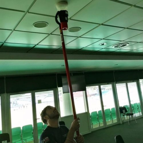 Fire maintenance at the Oval