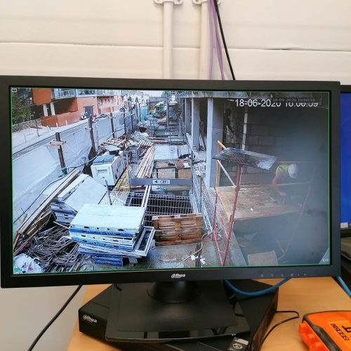 Construction Site Temporary CCTV Protection System