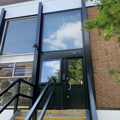 New Aluminium Door sets and Large Glazing Facia New Paxton System